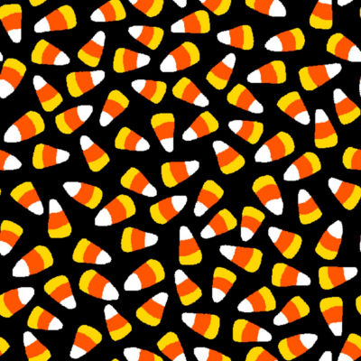 Halloween Candy Corn Cotton Fabric
