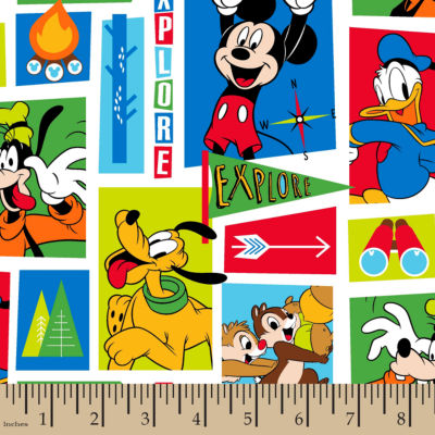 Disney Mickey Friends Exploring Fabric