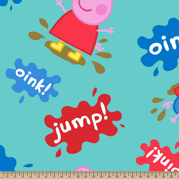 Peppa Pig Muddy Puddles Fleece Fabric By the Yard