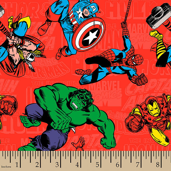 Marvel Characters Flannel Fabric By the Yard