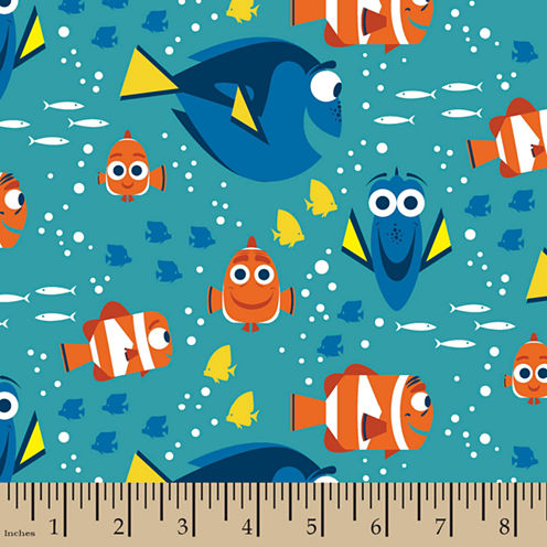 Disney Finding Dory Flannel Fabric By the Yard