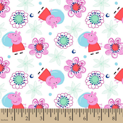 Peppa Pig Flannel Fabric By the Yard