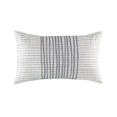 INK + IVY Bishop Cotton Embroidered Oblong Throw Pillow