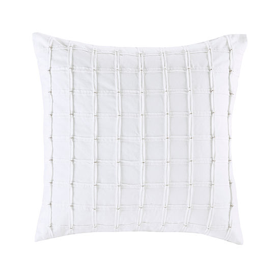 INK + IVY Shira Cotton Pleated Square Throw Pillow