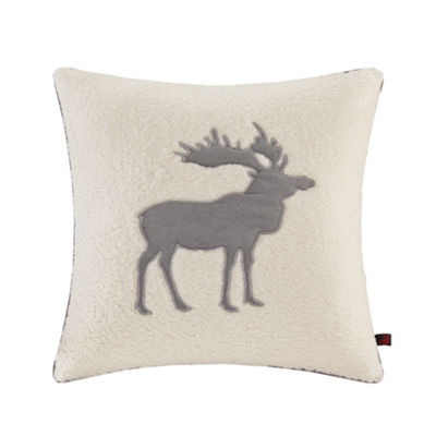 Woolrich Moose Applique Square Throw Pillow