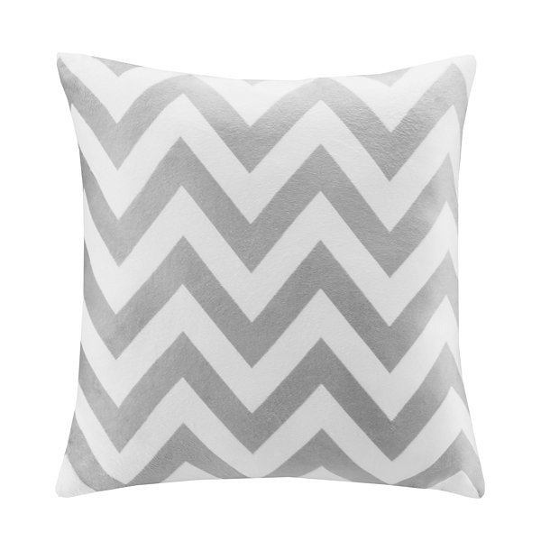 Intelligent Design Chevron Square Throw Pillow