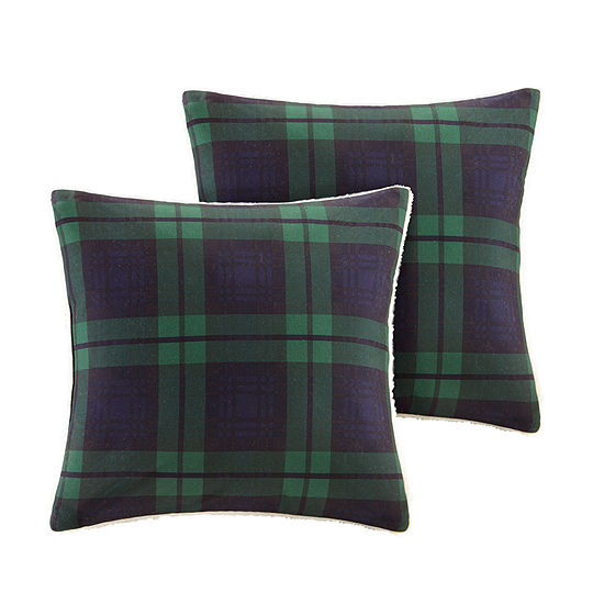 Woolrich Brewster Softspun To Berber Square Throw Pillow