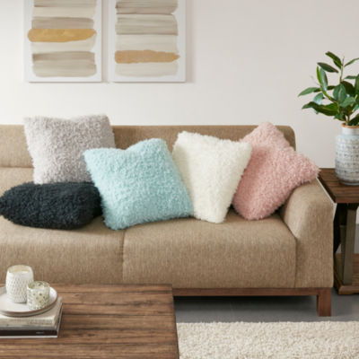 Madison Park Nova Ultra Soft Solid Mohair Square Throw Pillow