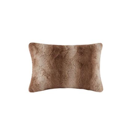 Madison Park Zuri Luxurious Faux Fur Oblong Throw Pillow
