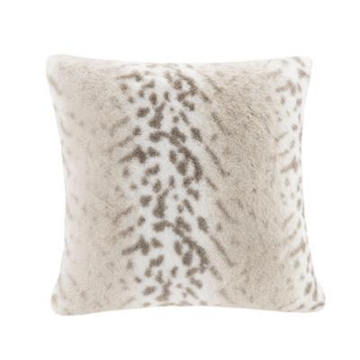 Madison Park Signature Serengeti Luxury Faux Fur Square Throw Pillow