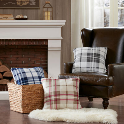 Woolrich Plush To Berber Ultra Soft Plush Square Throw Pillow