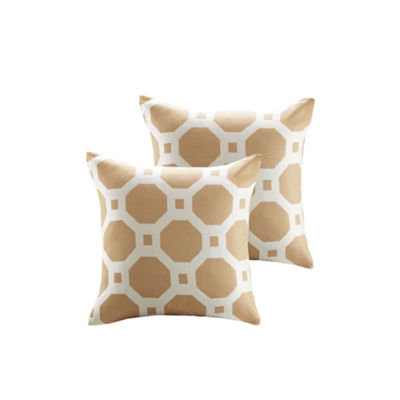Madison Park Oriana Geometric Jacquard Square Throw Pillow