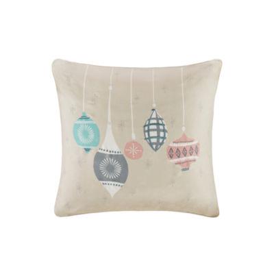 Madison Park Ornament Treasures Embroidered SquareThrow Pillow