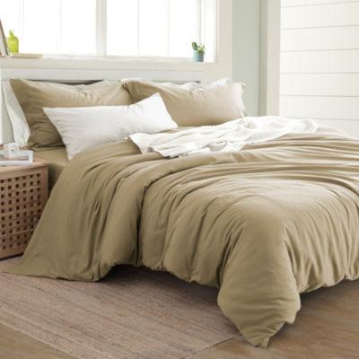Pacific Coast Textiles 3Pc Linen Cotton Comforter Cover Set