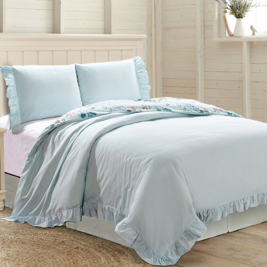 Pacific Coast Textiles 3Pc Ruffled Comforter Cover Set - Casey