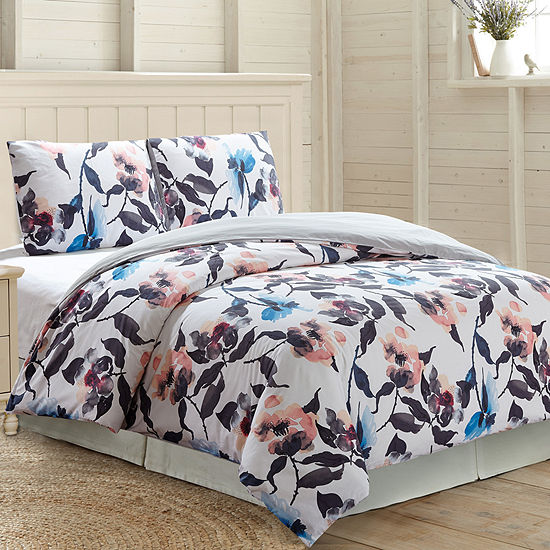 Pacific Coast Textiles 3Pc 100% Cotton Comforter Cover Set