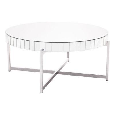 Mirrored Circular Coffee Table
