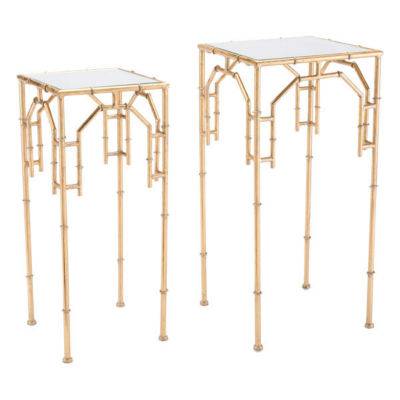 Bamboo Set of 2 End Tables