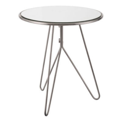 Mirrored Tripod End Table