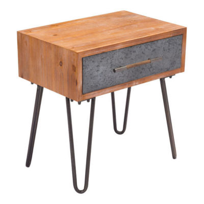 Retro Modern Metal End Table