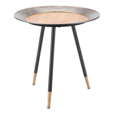 Antique Metal End Table