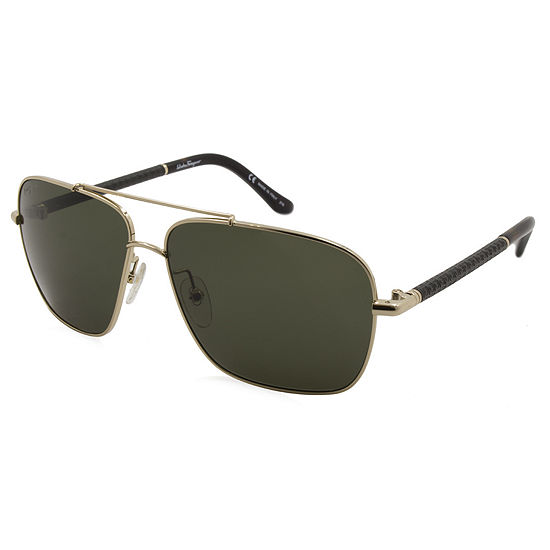 Ferragamo Sunglasses - Sf145Sl / Frame: Gold Lens:Green