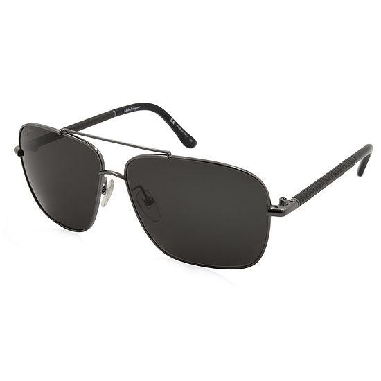 Ferragamo Sunglasses - Sf145Sl / Frame: Gunmetal Lens: Black