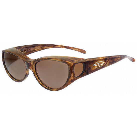 Fitovers Eyewear Sunglasses - Ikara / Frame: TigerEye Lens: Polarvue Amber