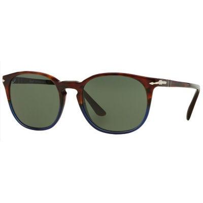 Persol Sunglasses - Po3007 / Frame: Terra E OceanoLens: Green (53Mm)