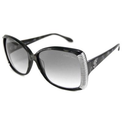 Roberto Cavalli Sunglasses - Rc 656S Alloro / Frame: Black With Gray Spots Lens: Gray Gradient