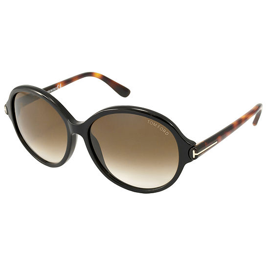 Tom Ford Sunglasses - Milena / Frame: Brown With Havana Temples Lens: Brown Gradient