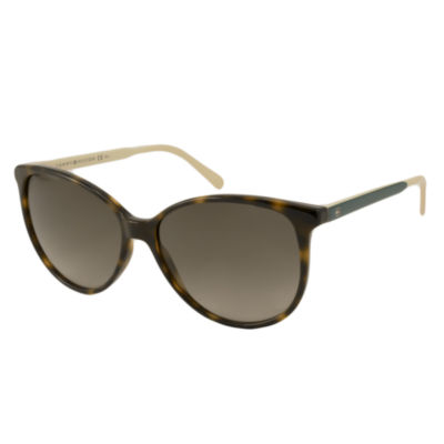 Tommy Hilfiger Sunglasses - Th1261S / Frame: Tortoise With Cream And Green Temples Lens: Brown Gradient