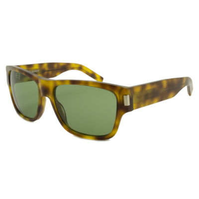 Yves Saint Laurent Sunglasses - Sl 77 / Frame: Yellow Havana Lens: Green