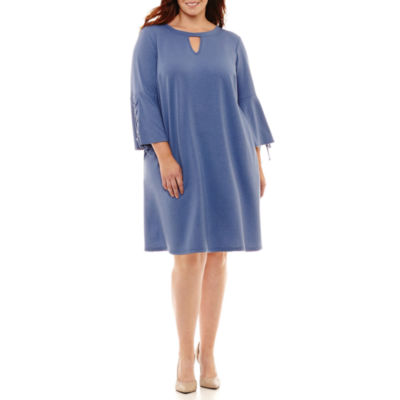 Alyx Long Sleeve Sweater Dress-Plus