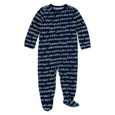 Okie Dokie Zig Zag Print Full Zip Sleep And Play - Baby Boy NB-9M