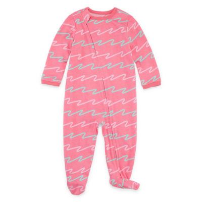 Okie Dokie Printed Full Zip Sleep and Play - Baby Girl NB-9M