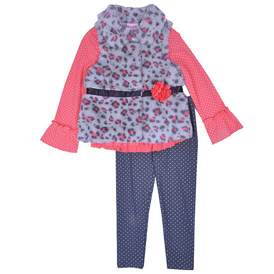 Nanette Baby 3 Pc Legging Set Toddler Girls