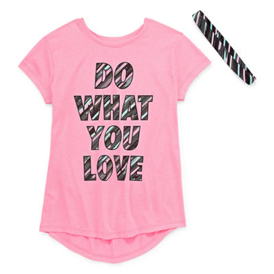 Xersion Poly Graphic Tee with Headband - Girls' 4-16 and Plus