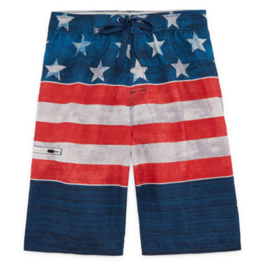 Americana Stripe Swim Trunks- Boys 8-20