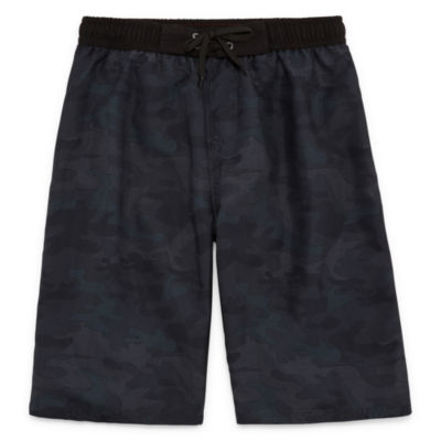 Combat Camouflage Swim Trunks-Boys 8-20