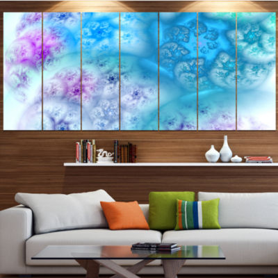 Designart Clear Blue Magic Stormy Sky Abstract Canvas Art Print - 4 Panels