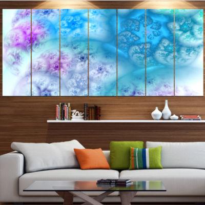 Designart Clear Blue Magic Stormy Sky ContemporaryCanvas Art Print - 5 Panels