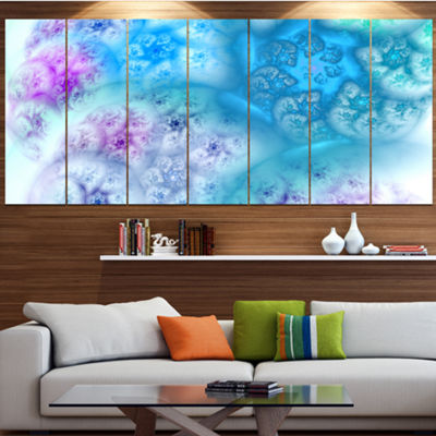 Designart Clear Blue Magic Stormy Sky Abstract Canvas Art Print - 6 Panels