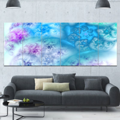 Clear Blue Magic Stormy Sky Abstract Canvas Art Print - 6 Panels