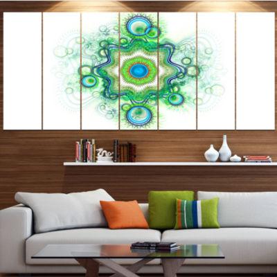 Designart Cabalistic Star Fractal Flower AbstractCanvas ArtPrint - 7 Panels