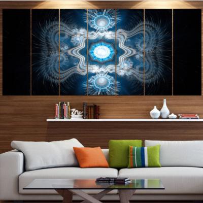 Designart Cabalistic Clear Blue Texture AbstractCanvas ArtPrint - 6 Panels