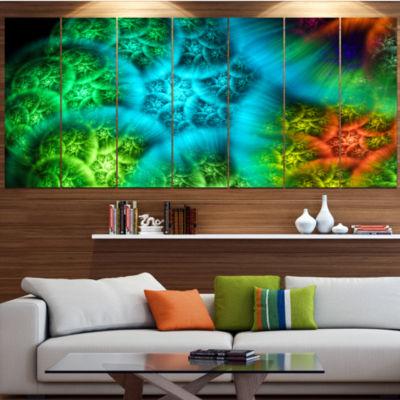Designart Biblical Sky With Green Clouds Contemporary Wall Art Canvas - 5 Panels