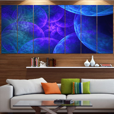 Designart Biblical Sky With Blue Clouds AbstractWall Art Canvas - 7 Panels