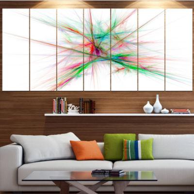 Designart Blue Red Spectrum Of Light Abstract Canvas Art Print - 4 Panels