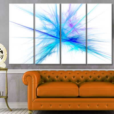 Designart Criss Cross Spectrum Of Light AbstractCanvas WallArt - 4 Panels